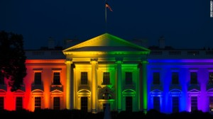 Rainbow colored lights decorate the White House in honor of the Marriage Equality ruling